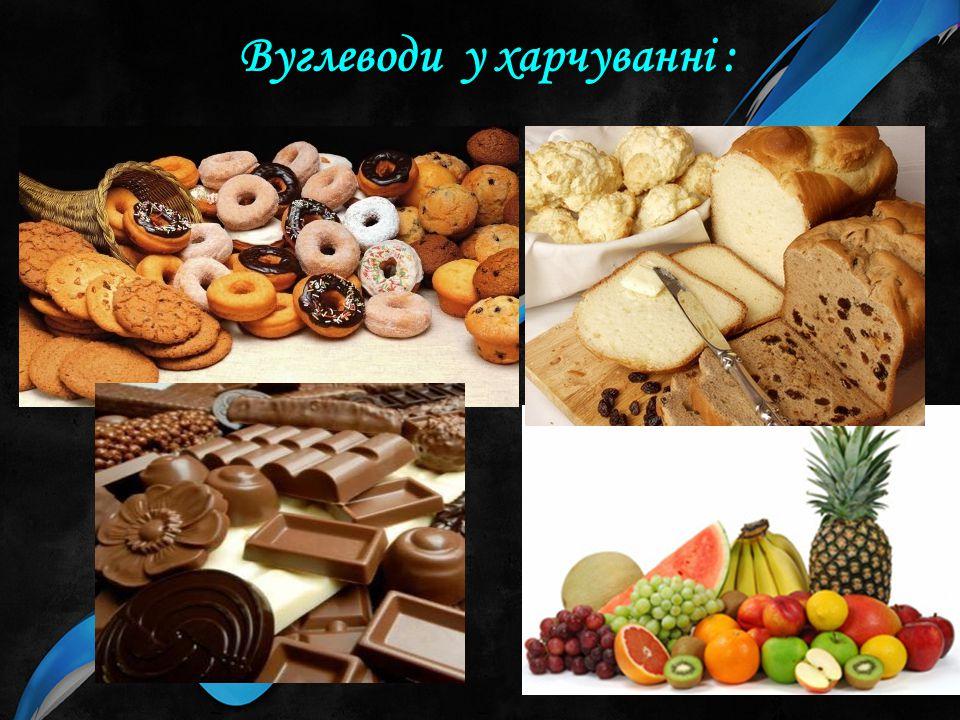 Вуглеводи у харчуванні :