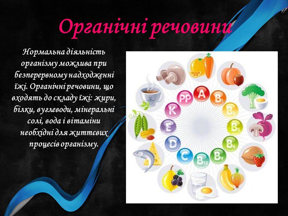 Органічні речовини