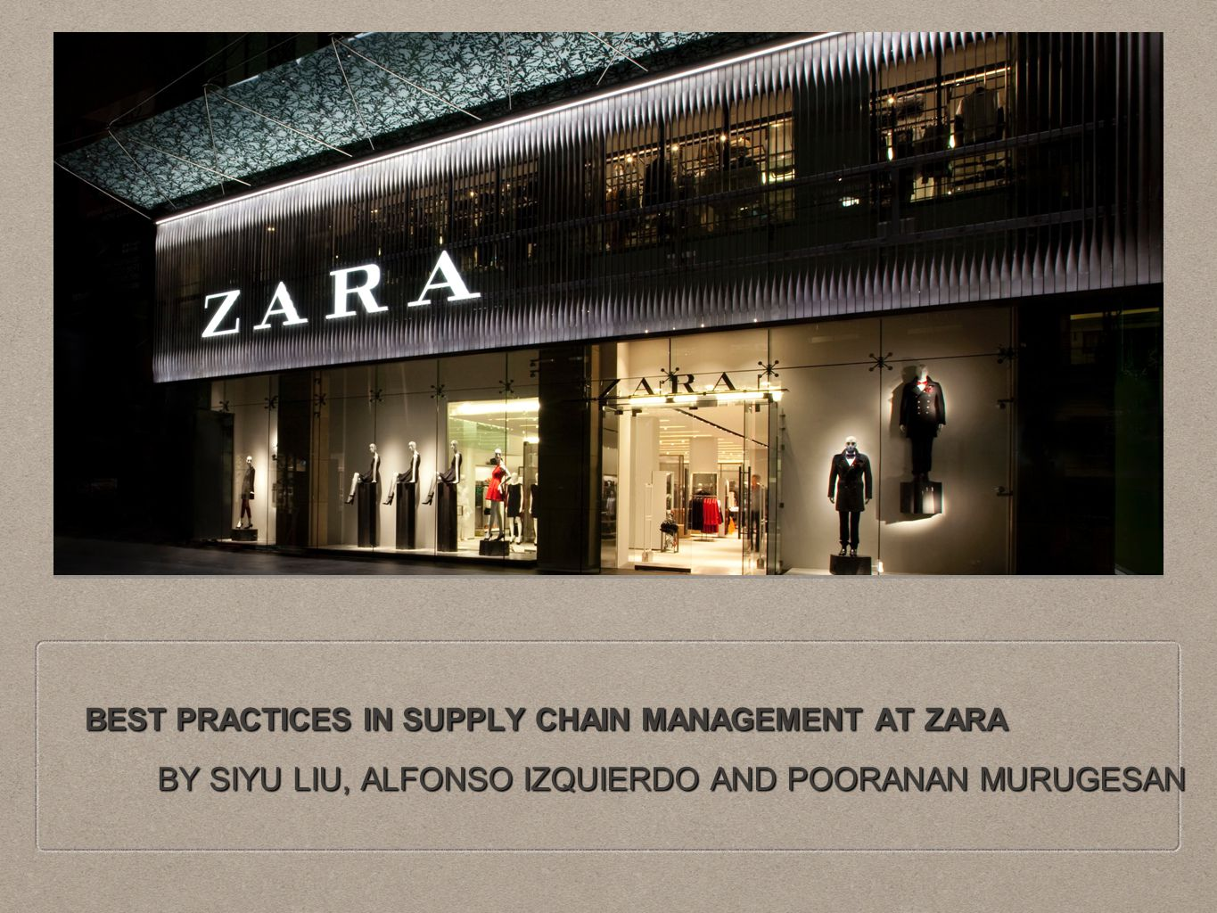 management zara Want to manage your supply chain as efficiently as zara try tradegecko's  inventory management system today click here to start a free.