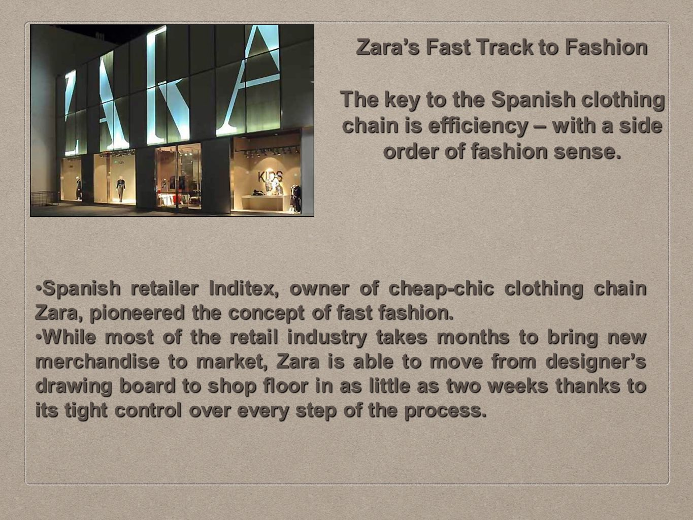 zara fast fashion study of supply Zara's rapid supply chain has changed retailing  supply chain and fast fashion the pace of zara's supply chain has so  templates and supply management.