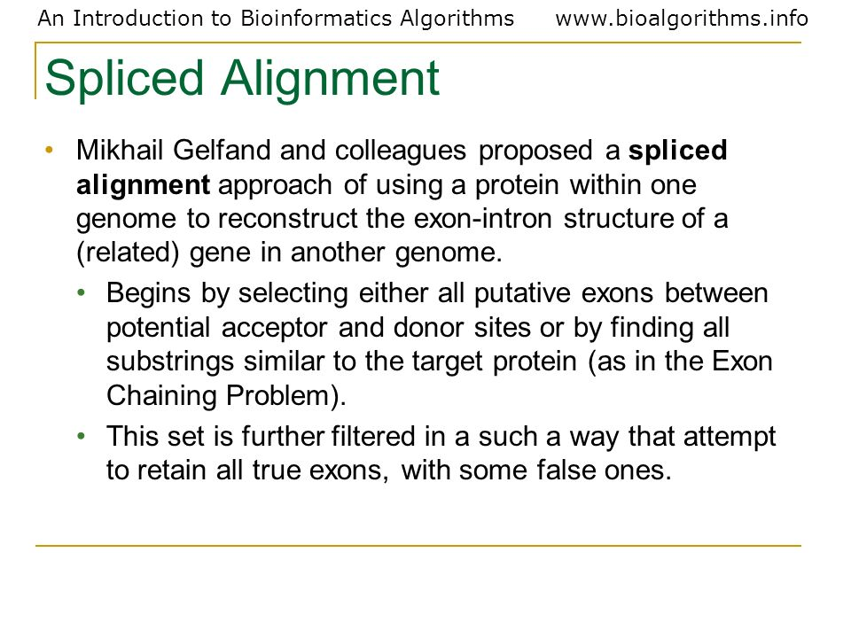 Spliced Alignment