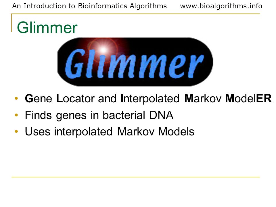 Glimmer Gene Locator and Interpolated Markov ModelER