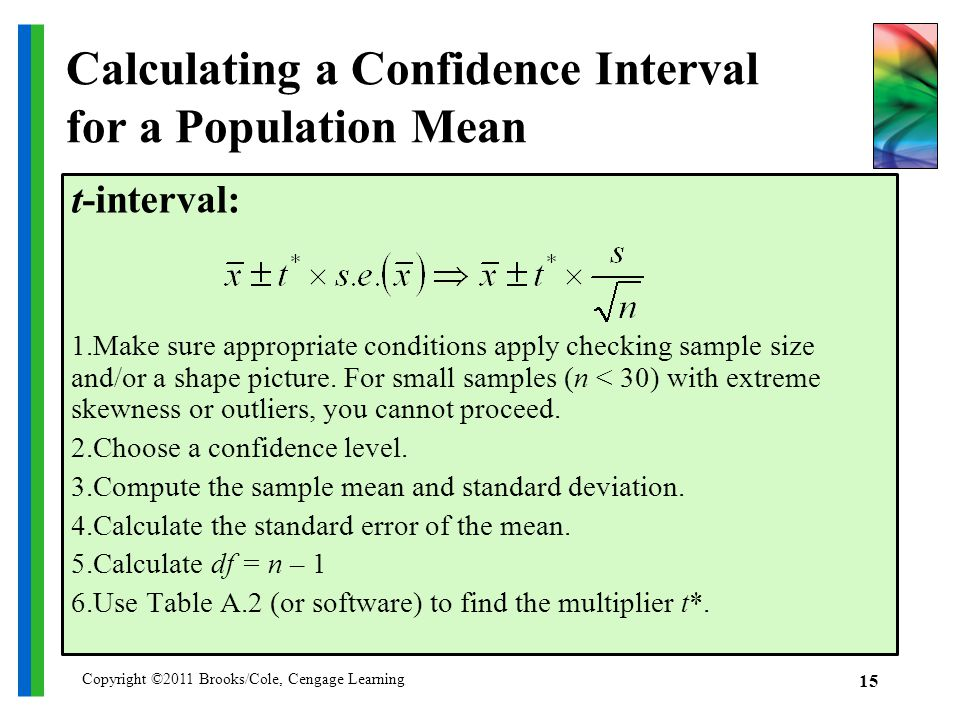 Estimating means with confidence ppt download for T table 99 confidence interval