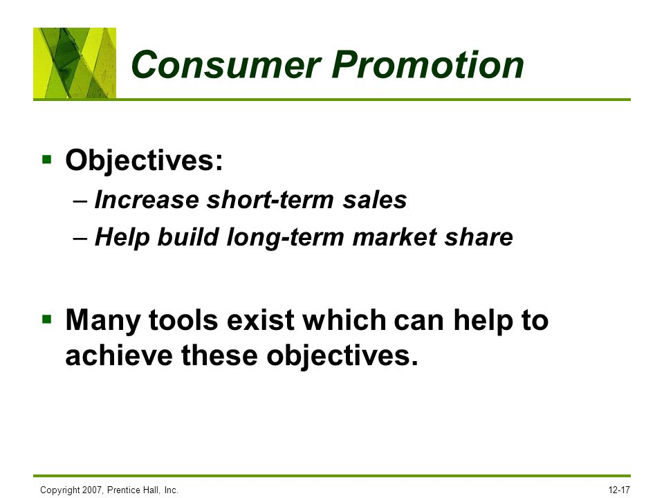 Consumer Promotion Objectives: