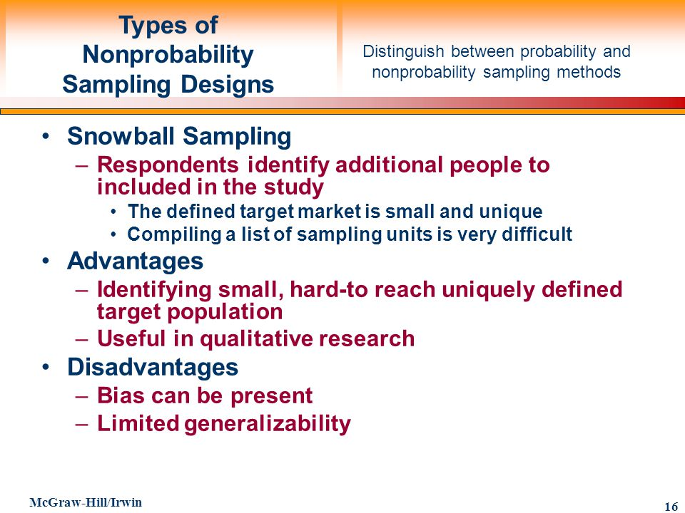 Advantages of Simple Random Sampling