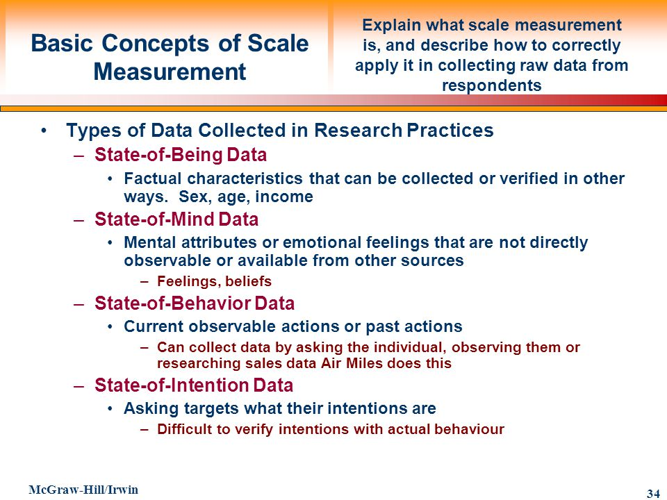 Basic Concepts of Scale Measurement