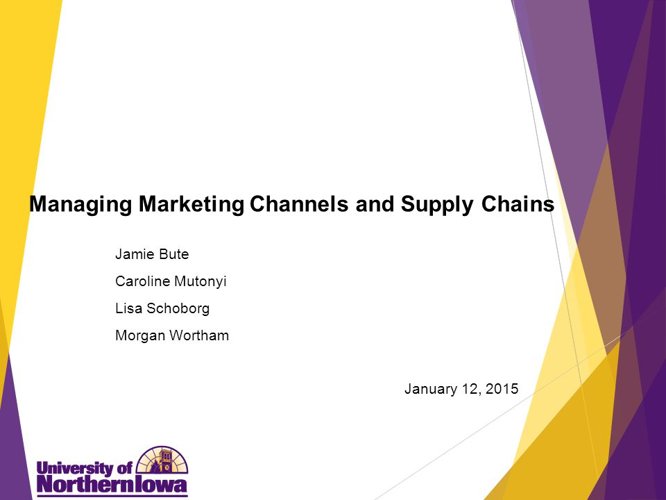 Agenda Marketing Channels Vertical Marketing Systems