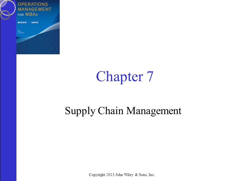 what is the right supply chain