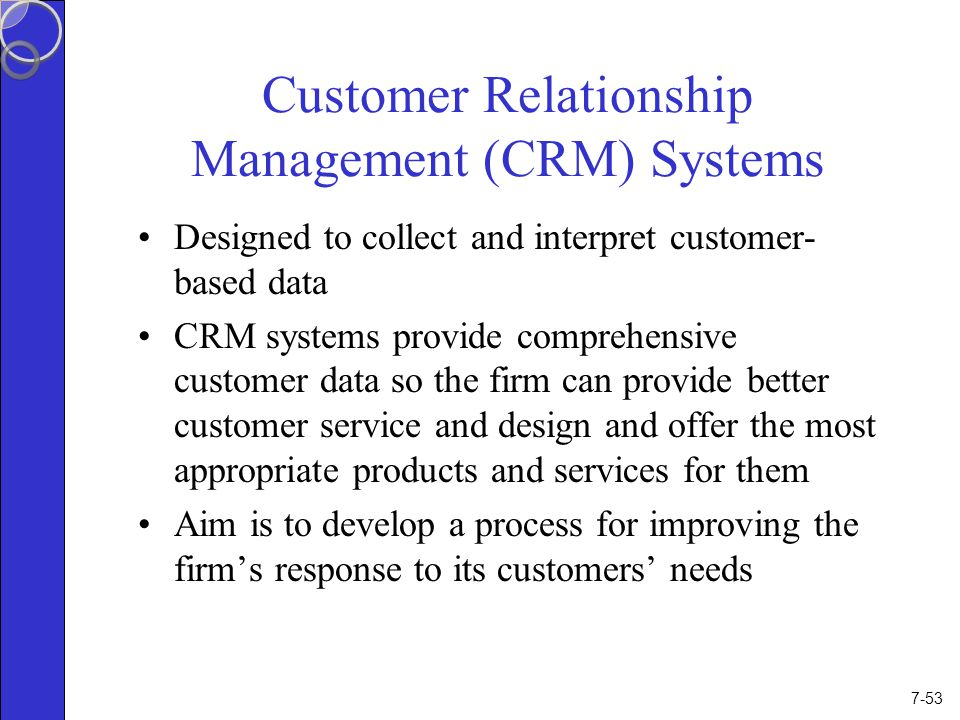 the customer relationship management process its measurement and impact on performance