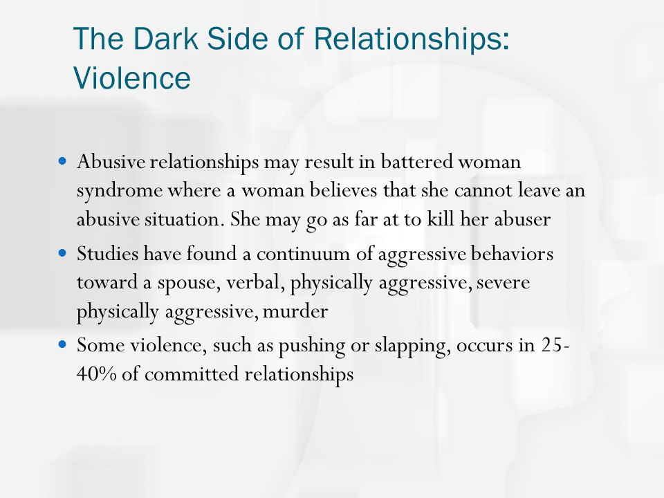 the dark side of relationships She's bad for me he's good for me a new study shows there may be something to those relational statements.