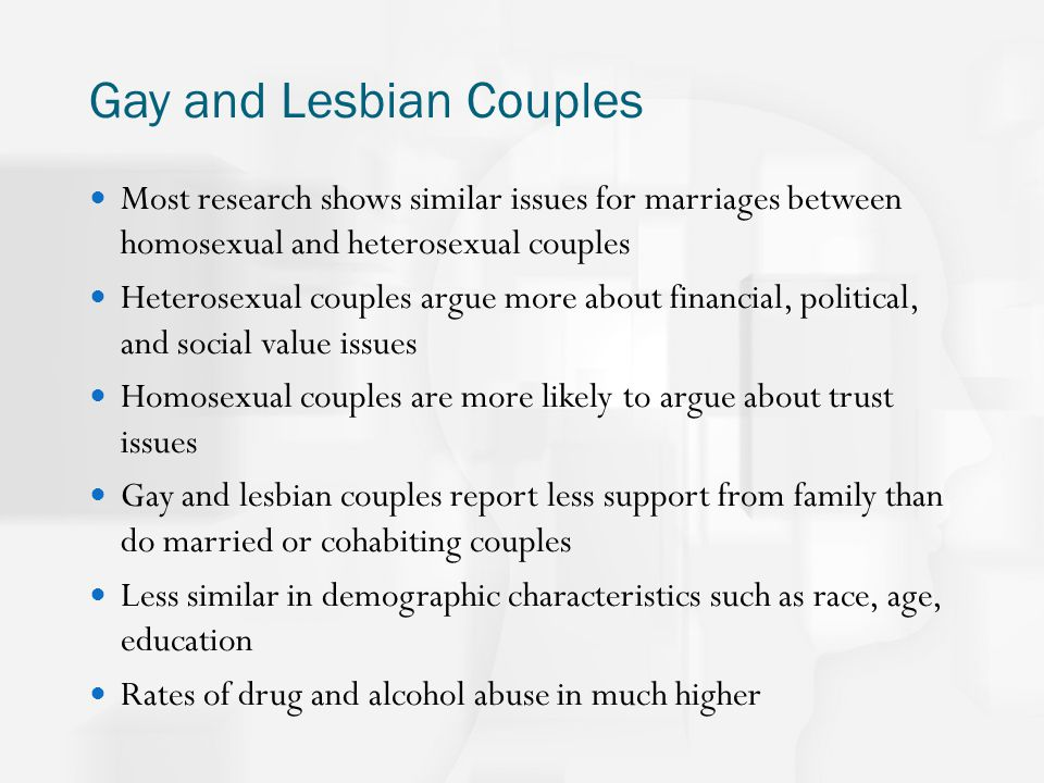 from Evan research on gay and lesbian couples