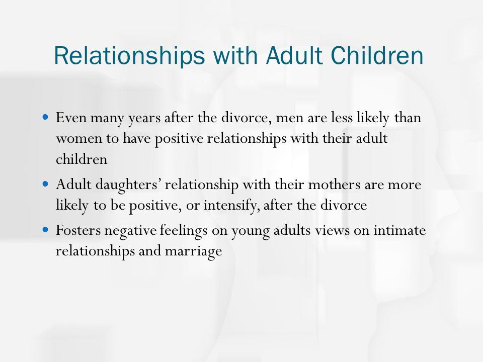 Dating a man with adult children