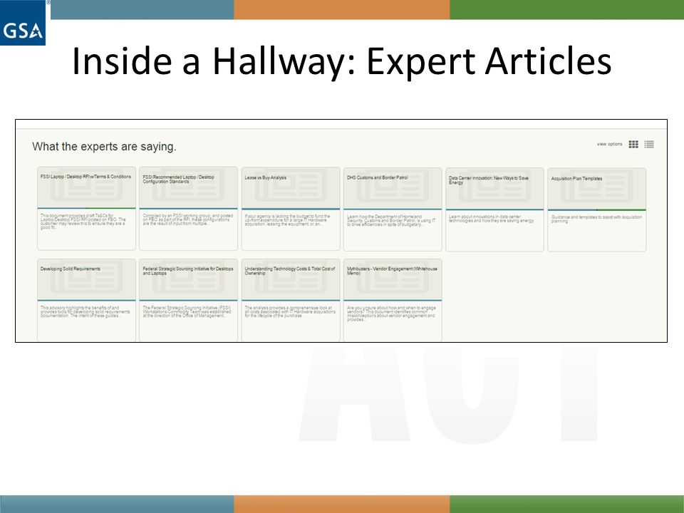 Inside a Hallway: Expert Articles