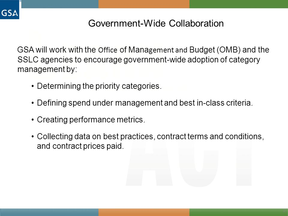 Government-Wide Collaboration