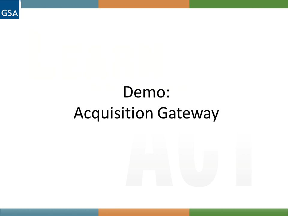 Demo: Acquisition Gateway