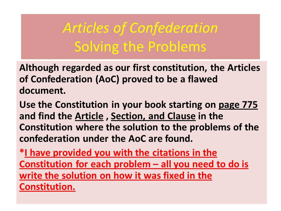 articles of confederation were effective in solving the problems of new nation