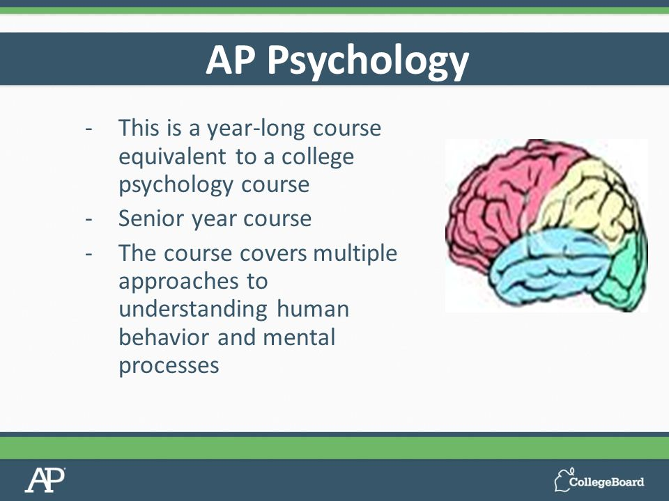 ap psychology Topics covered the college board provides a course of study to help educators prepare their students for the ap psychology exam the exam covers the following 14 areas.