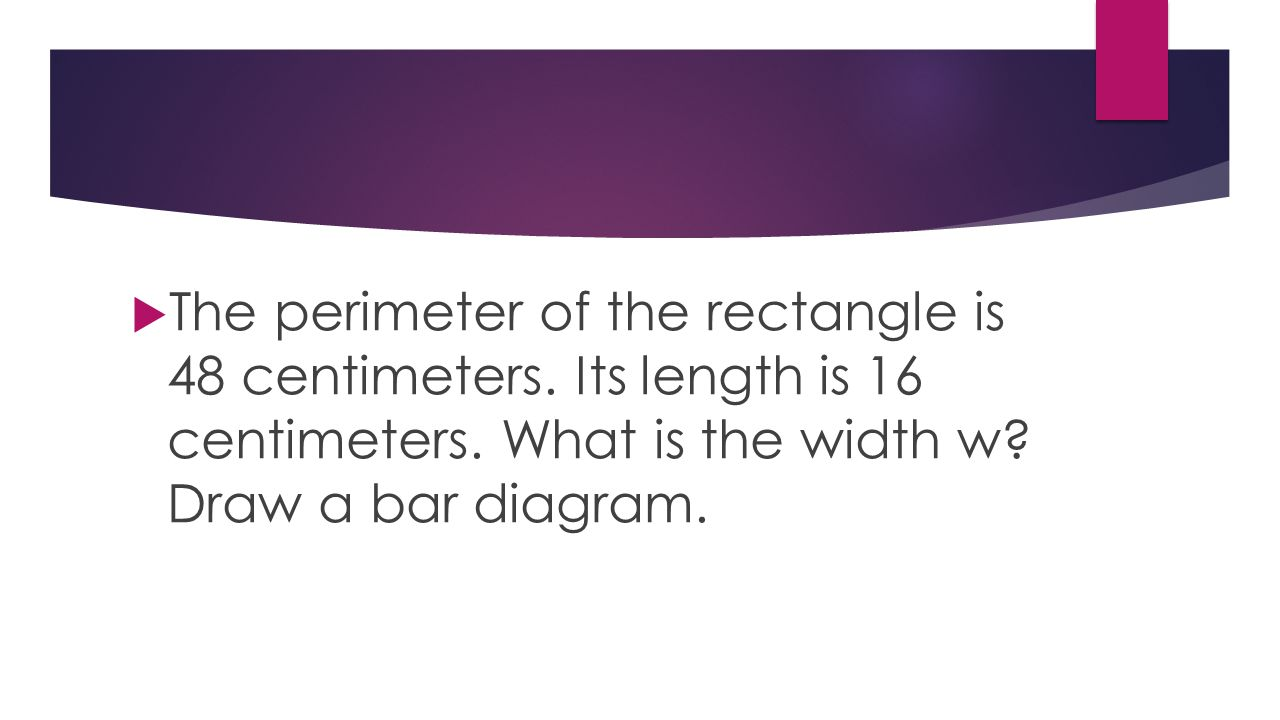 how to find the perimeter of a rectangle in centimeters