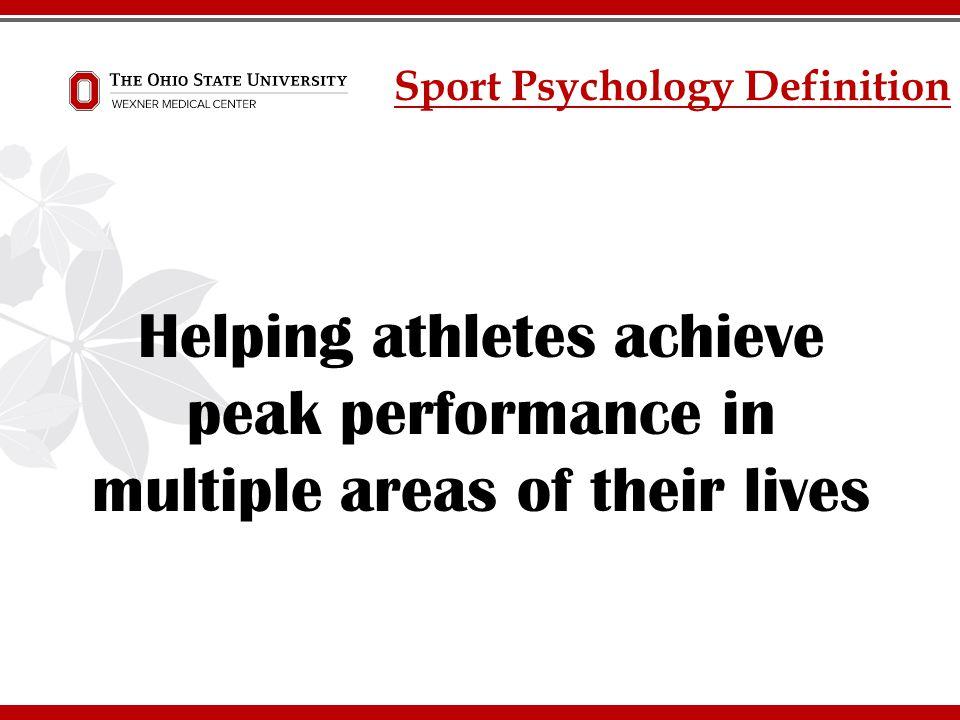 Sport Psychology Definition