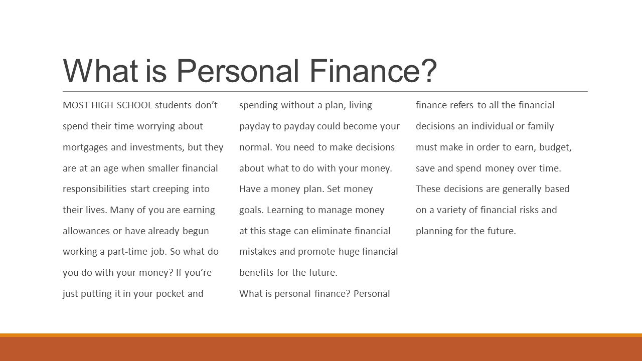 Introduction to personal finance - ppt video online download