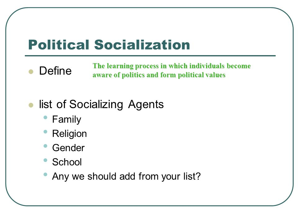 What Are the Major Agents of Socialization?