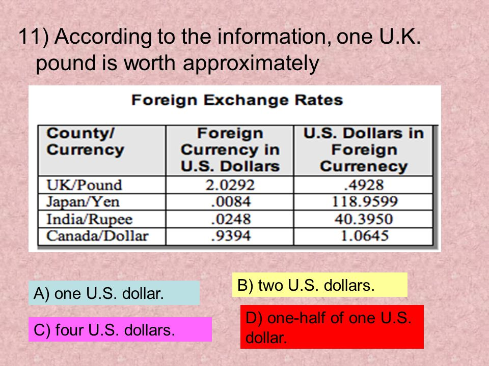 11) According to the information, one U. K
