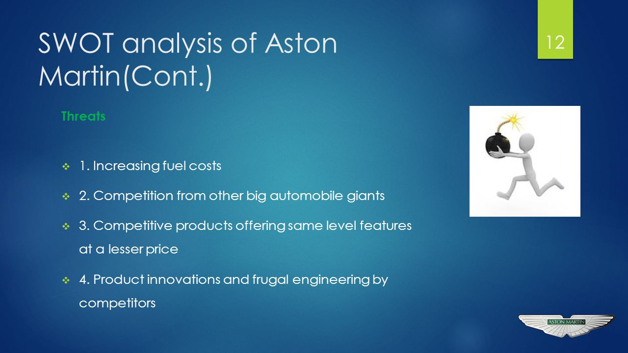 aston martin swot analysis Pestle analysis of aston martin aston martin & vauxhall pestle political economic social technological legal environmental swot analysis of aston martin swot analysis of vauxhall popular presentations see more popular or the latest prezis prezi product gallery.