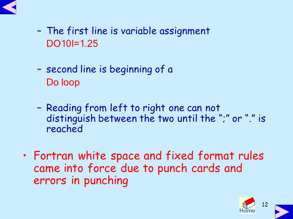 The first line is variable assignment