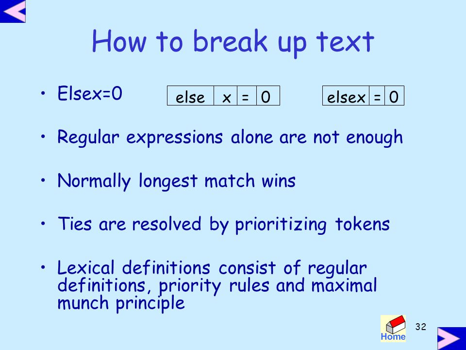 How to break up text Elsex=0 Regular expressions alone are not enough