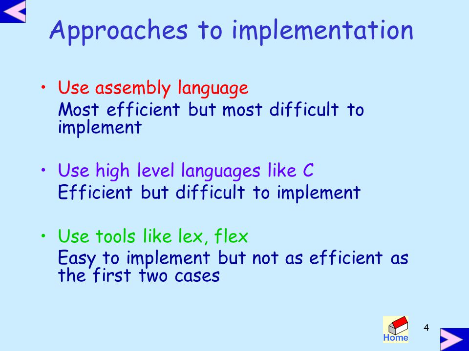 Approaches to implementation