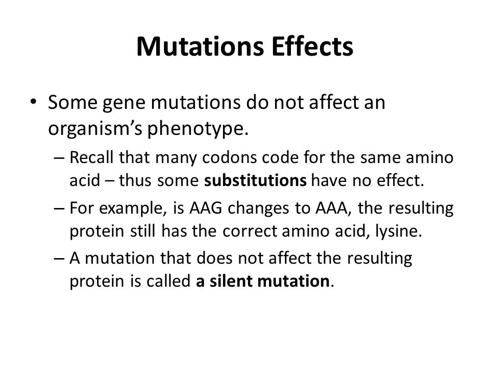 How Do Mutations Affect Natural Selection