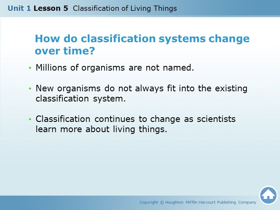 How do classification systems change over time