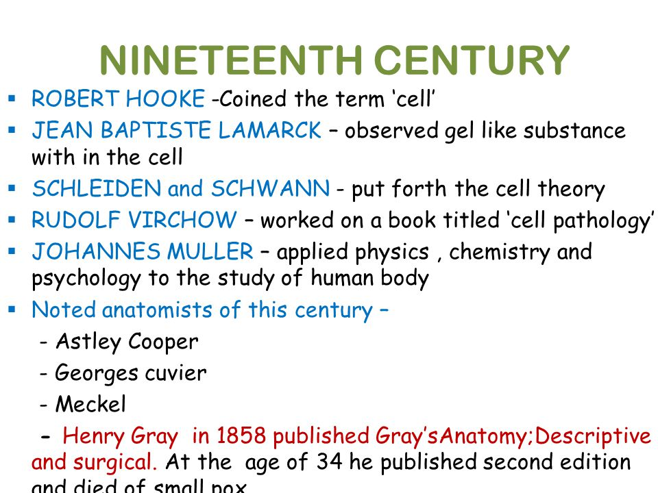 Contributions to Cell theory