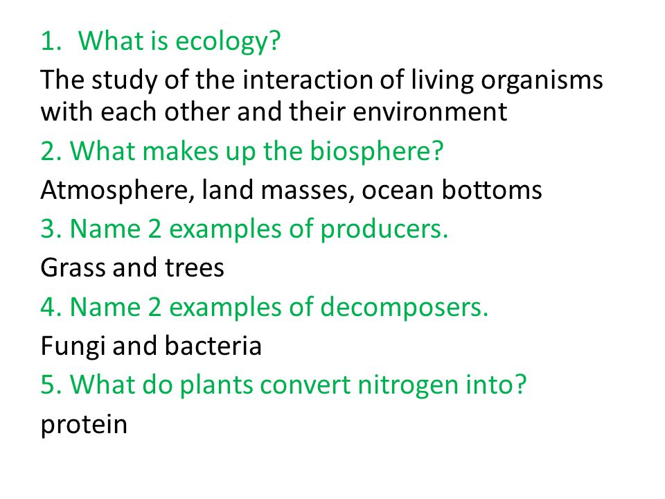 a study of ecology Start studying ecology study guide learn vocabulary, terms, and more with flashcards, games, and other study tools.