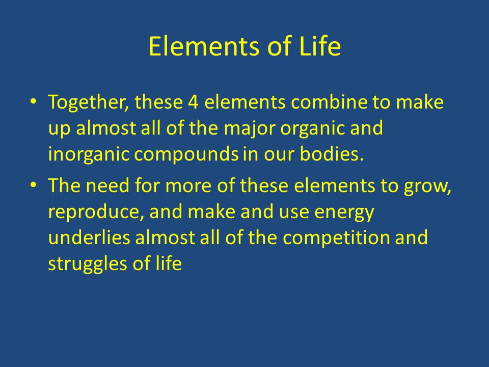5 major compounds that make up Which category of organic compound is the major component of cell membranes a from _____ compounds make up the cells and other structures of organisms.