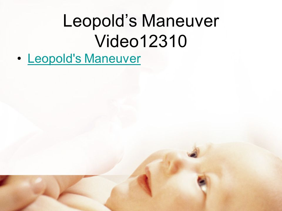 Leopold's Maneuver Video12310