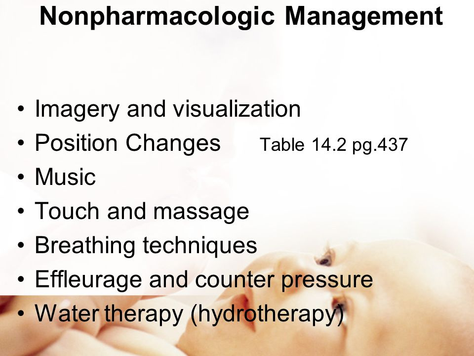 Nonpharmacologic Management