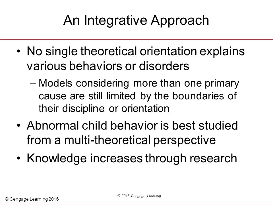 Integrative Approach to Psychology and&nbspTerm Paper