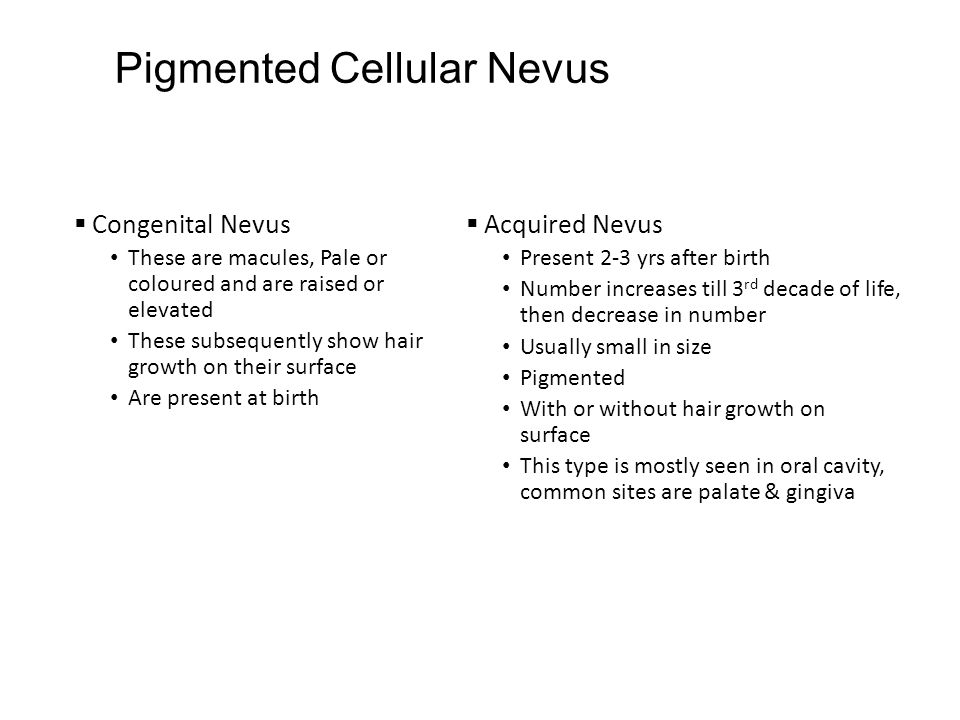 Pigmented Cellular Nevus