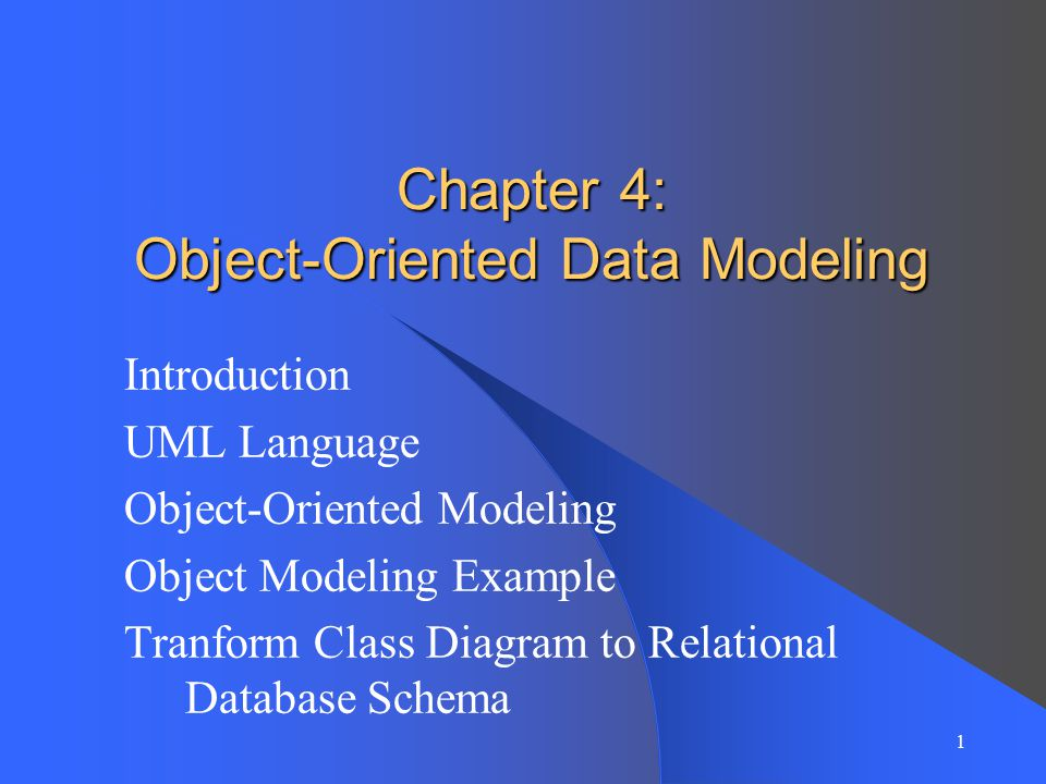 Chapter 4 Object Oriented Data Modeling Ppt Video Online Download