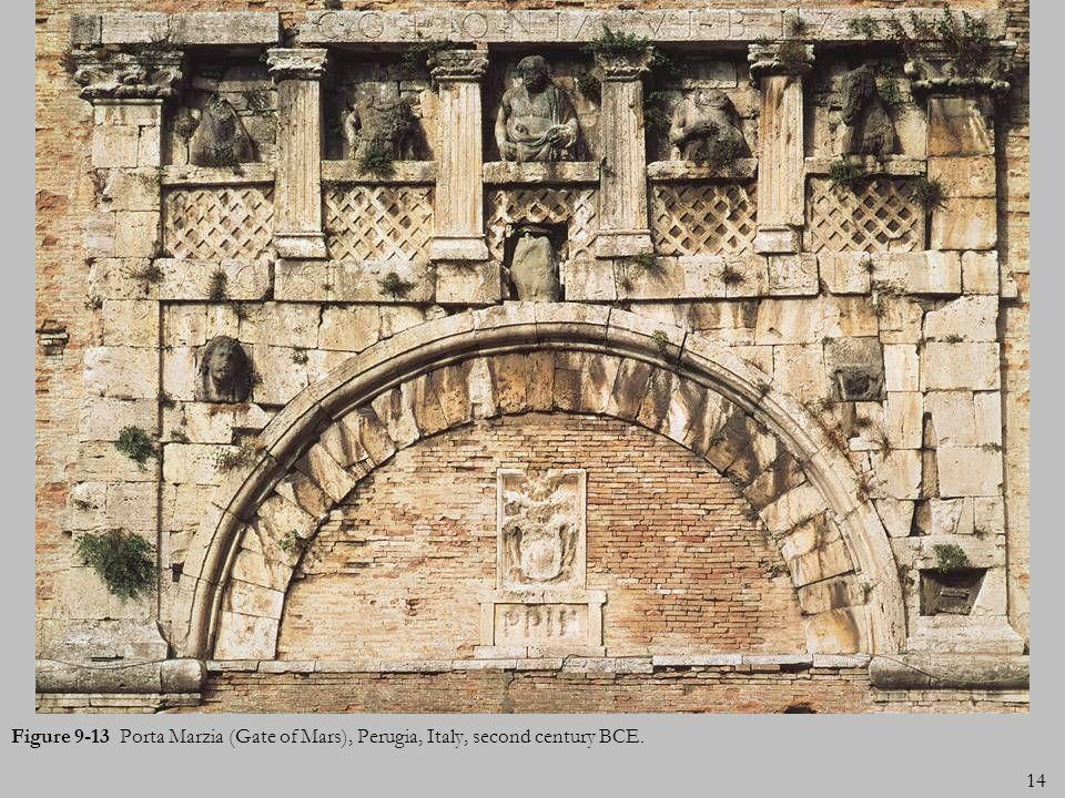 Figure 9-13 Porta Marzia (Gate of Mars), Perugia, Italy, second century BCE.