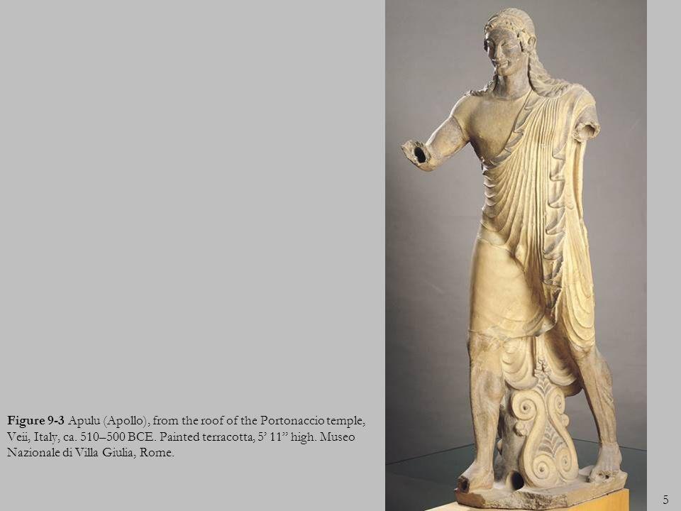 Figure 9-3 Apulu (Apollo), from the roof of the Portonaccio temple, Veii, Italy, ca.
