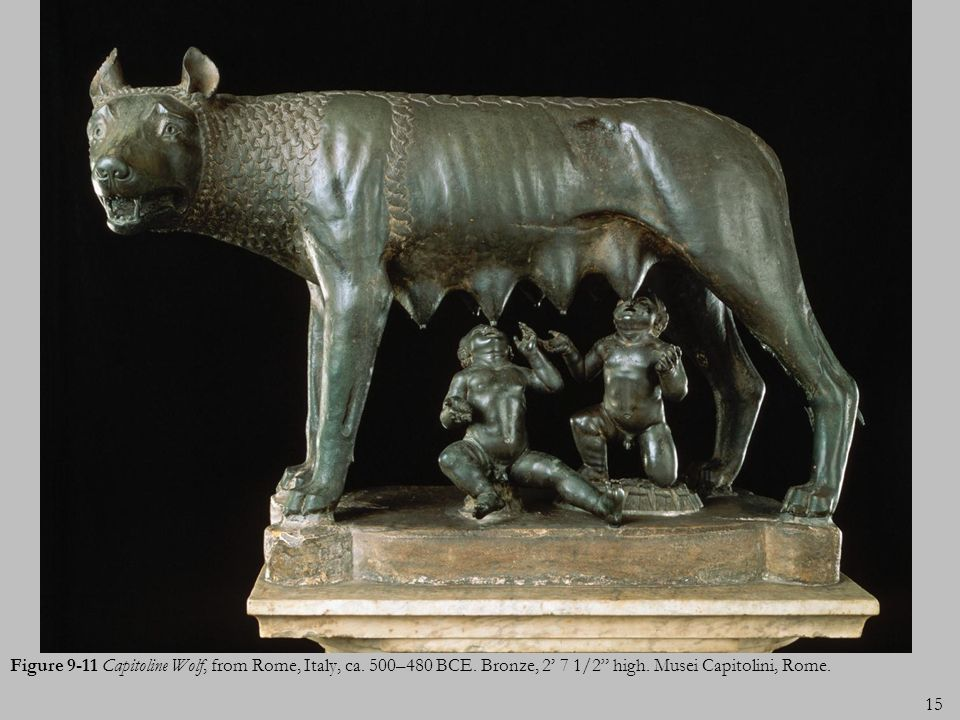 Figure 9-11 Capitoline Wolf, from Rome, Italy, ca. 500–480 BCE