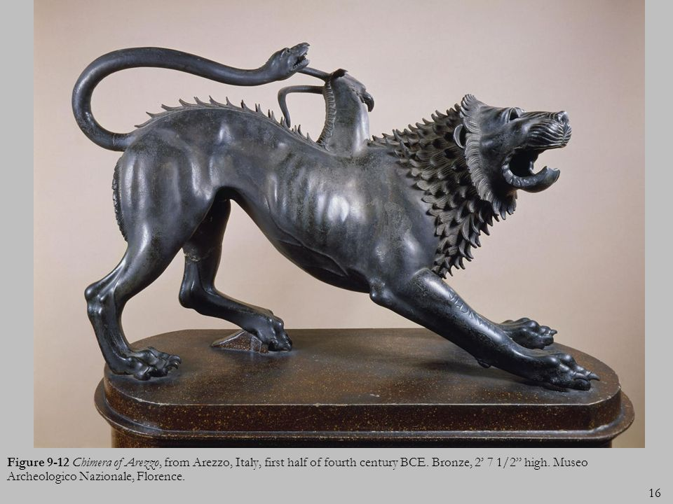 Figure 9-12 Chimera of Arezzo, from Arezzo, Italy, first half of fourth century BCE.