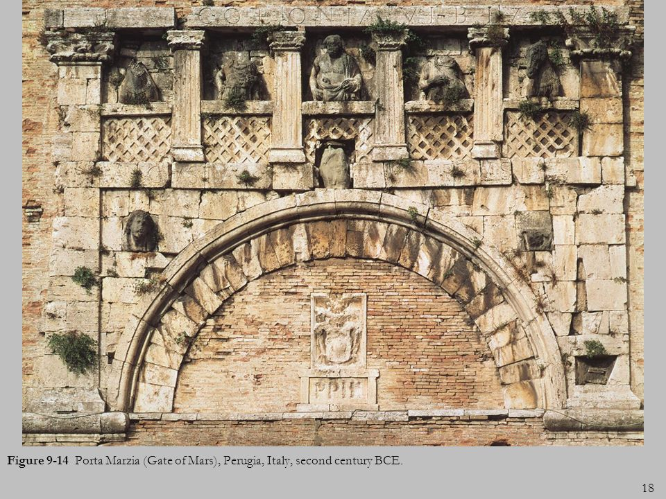 Figure 9-14 Porta Marzia (Gate of Mars), Perugia, Italy, second century BCE.