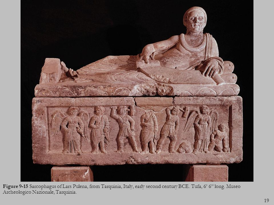 Figure 9-15 Sarcophagus of Lars Pulena, from Tarquinia, Italy, early second century BCE.