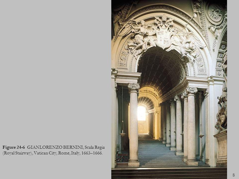 Figure 24-6 GIANLORENZO BERNINI, Scala Regia (Royal Stairway), Vatican City, Rome, Italy, 1663–1666.