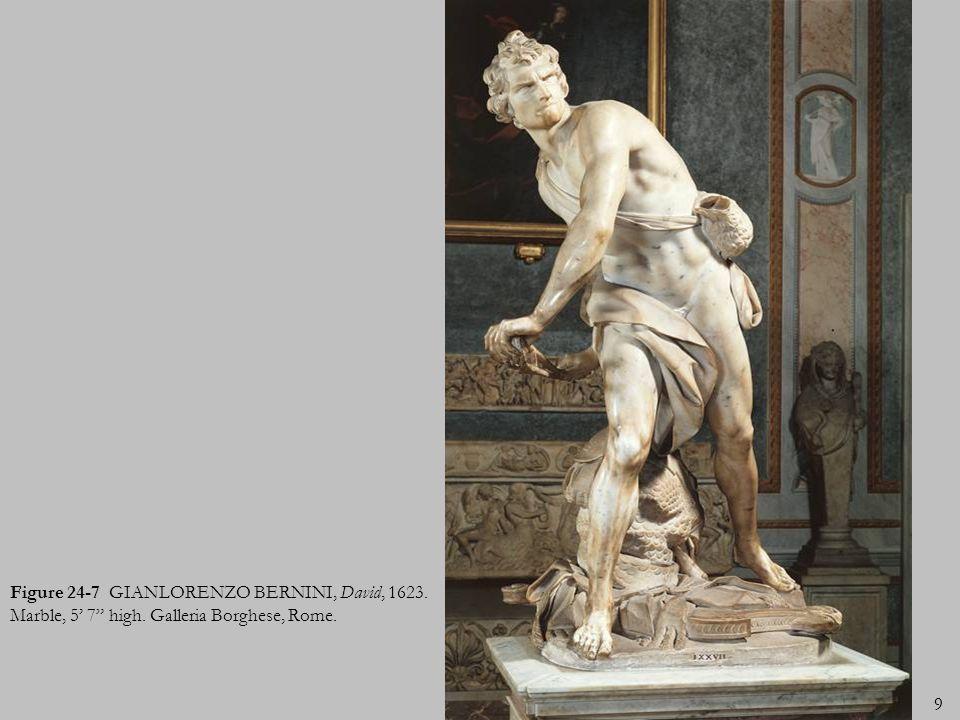 Figure 24-7 GIANLORENZO BERNINI, David, 1623. Marble, 5' 7 high