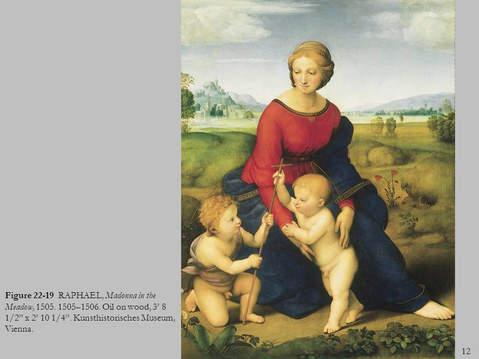 Figure 22-19 RAPHAEL, Madonna in the Meadow, 1505. 1505–1506