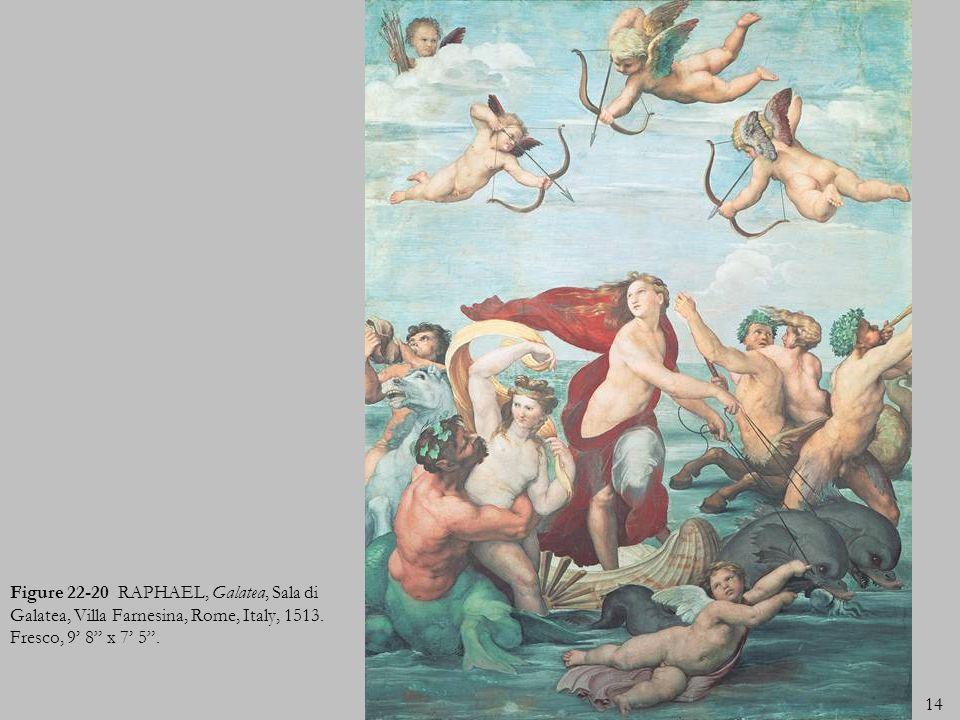 Figure 22-20 RAPHAEL, Galatea, Sala di Galatea, Villa Farnesina, Rome, Italy, 1513.